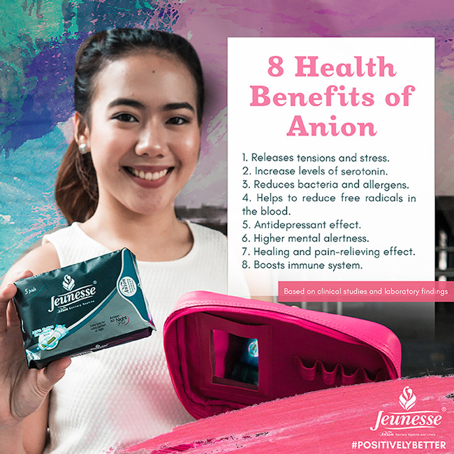 health benefits of anion - juenesse anion sanitary napkin