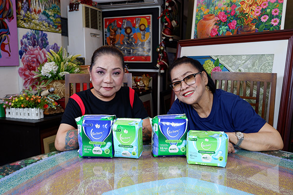 Cristy Fermin & Lolit Solis for So Sure Bladder Leakage Pad