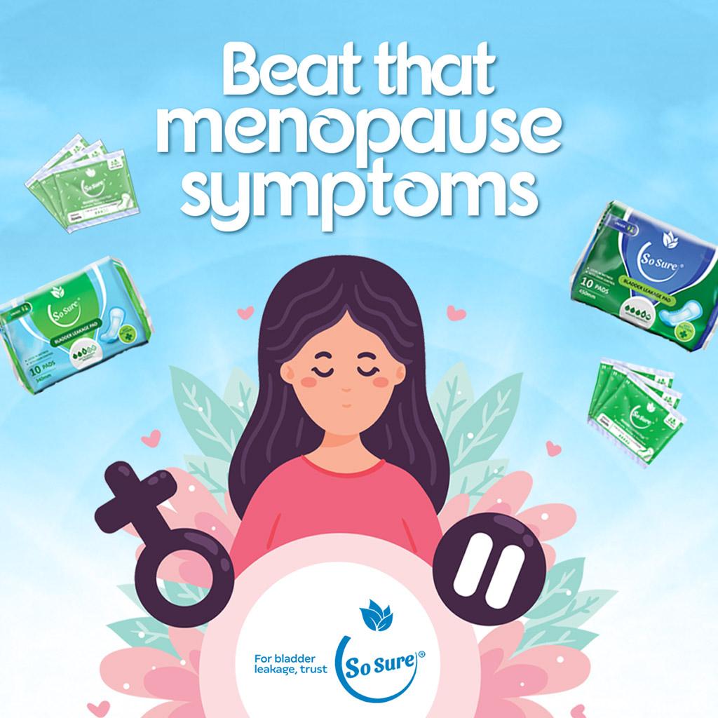 beat that menopause symptoms sosure pads bladder leakage & incontinence pads